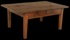 Antique Cherry Coffee Table With Single Drawer