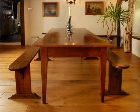 Antique Oak French Farmhouse Table