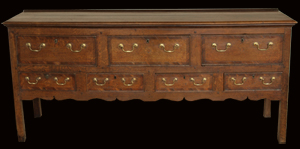 Antique English Oak Dressser Base