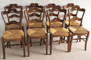 Antique Set Of Eight Cafe Chairs